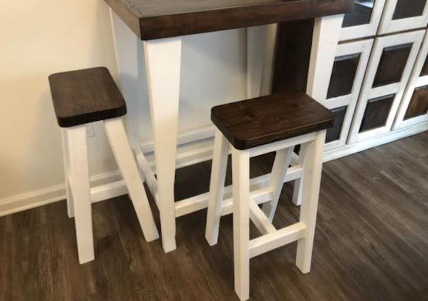 Free plans to build your own barstools.