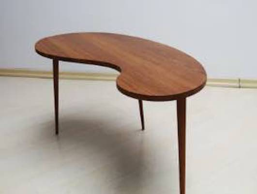 Build a Danish Organic Coffee Table using free plans.