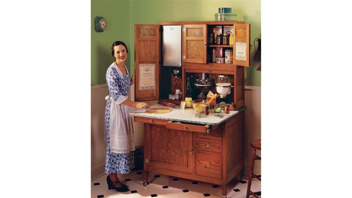 free woodworking plans on how to make a hoosier cabinet