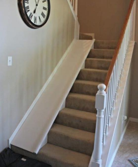 Build a funRemovable Stair Slide using free plans.