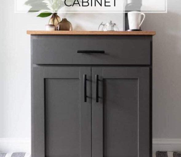 DIY Coffee Bar Cabinet