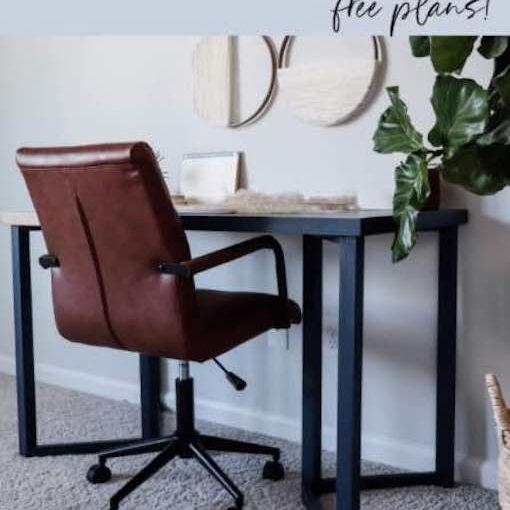 Simple Modern Desk Free Plan