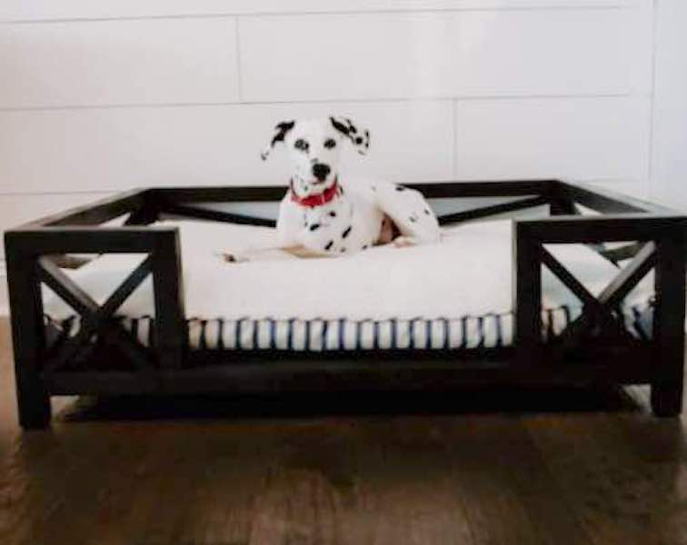 Build a Modern Dog Bed using free plans.