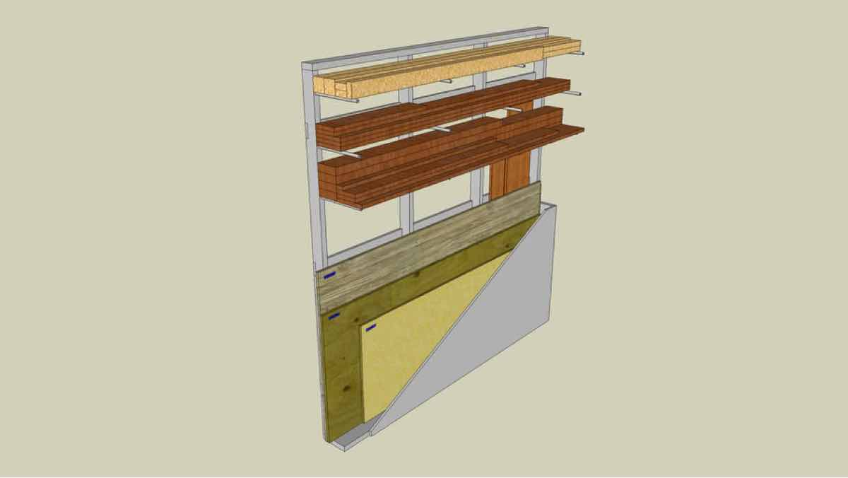 lumber rack,wood rack,sketchup,Google 3D,3-D warehouse,free woodworking plans,projects,do it yourself
