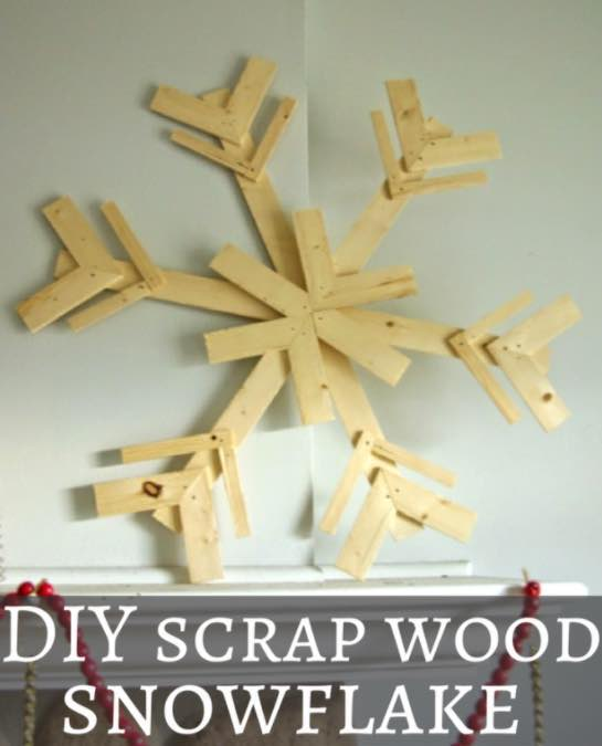 Build DIY Scrap Wood Snowflakes using free plans.