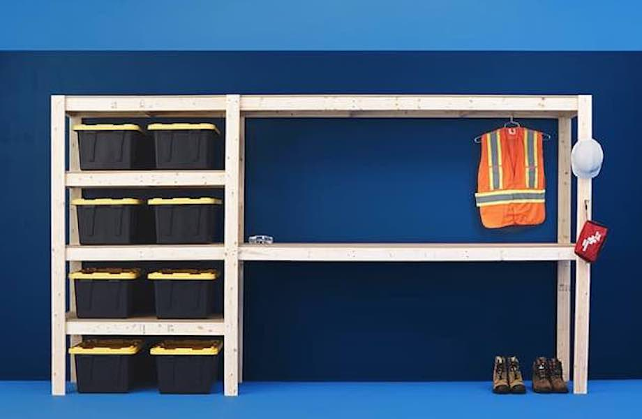 Build a Garage or Workshop Storage Unit using free plans.