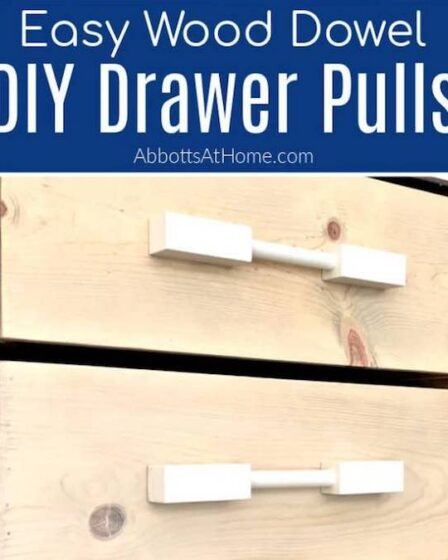 Free plans to DIY Wooden Drawer Pulls.
