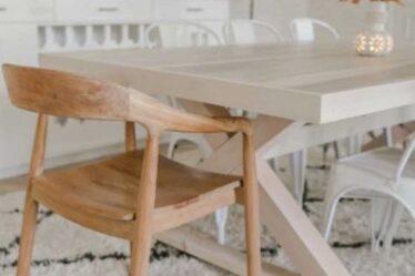 Build a Modern Farmhouse Table using free plans.