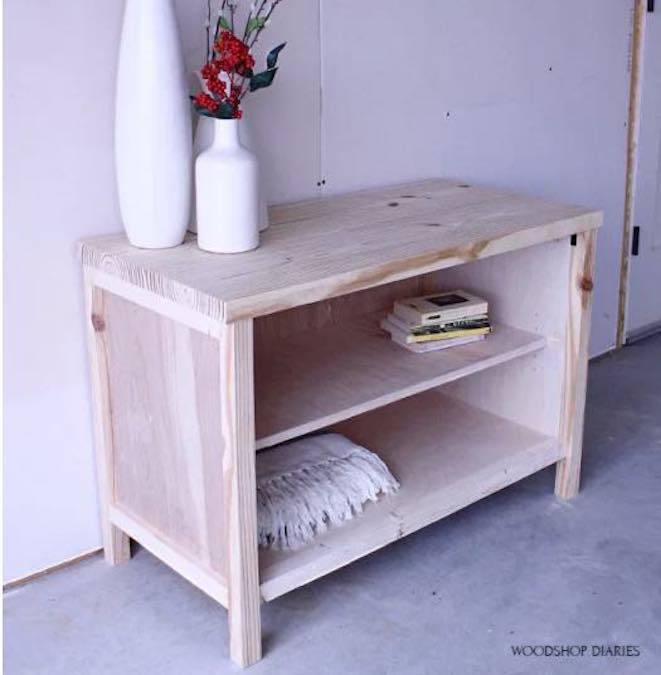 Build a Small Cabinet With Shelf using free woodworking plans.