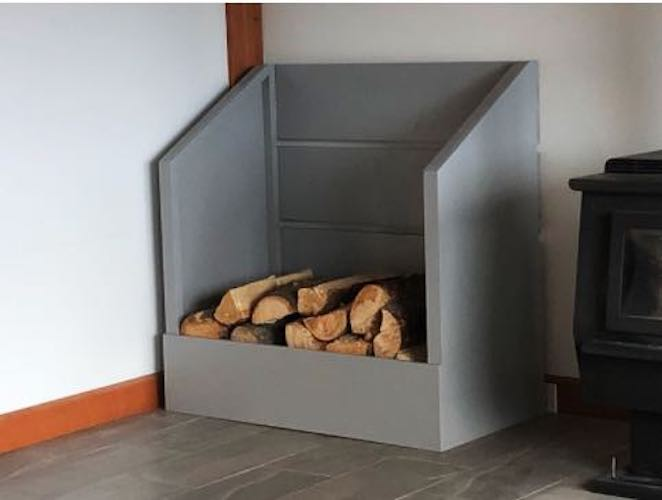Build an Indoor Firewood Box using free plans.