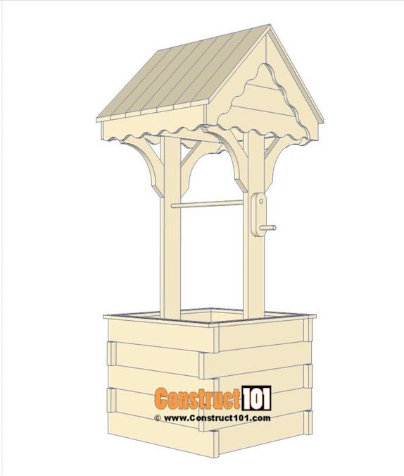 Build your own wishing well using free plans.