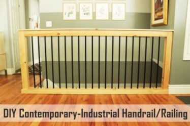 Build your own Industrial Stair Handrail using free plans.
