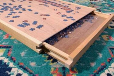 Build a Puzzle Tray With Storage for game night using free plans.
