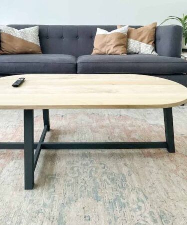 Free plans to build an Asymmetrical Coffee Table.
