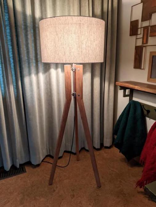Free plans to build your own Tripod Floor Lamp.