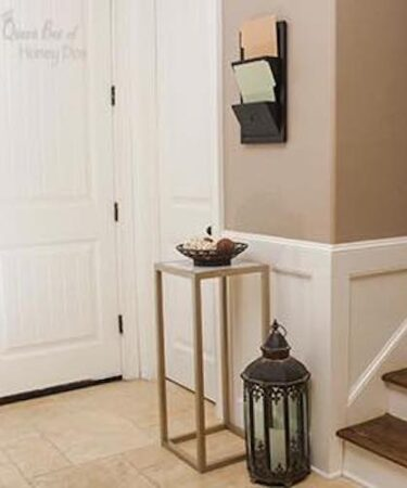 Build a Marble Topped Accent Table using free plans.