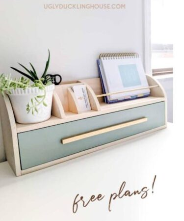 Build a DIY Desk Organizer for your home office using free plans.