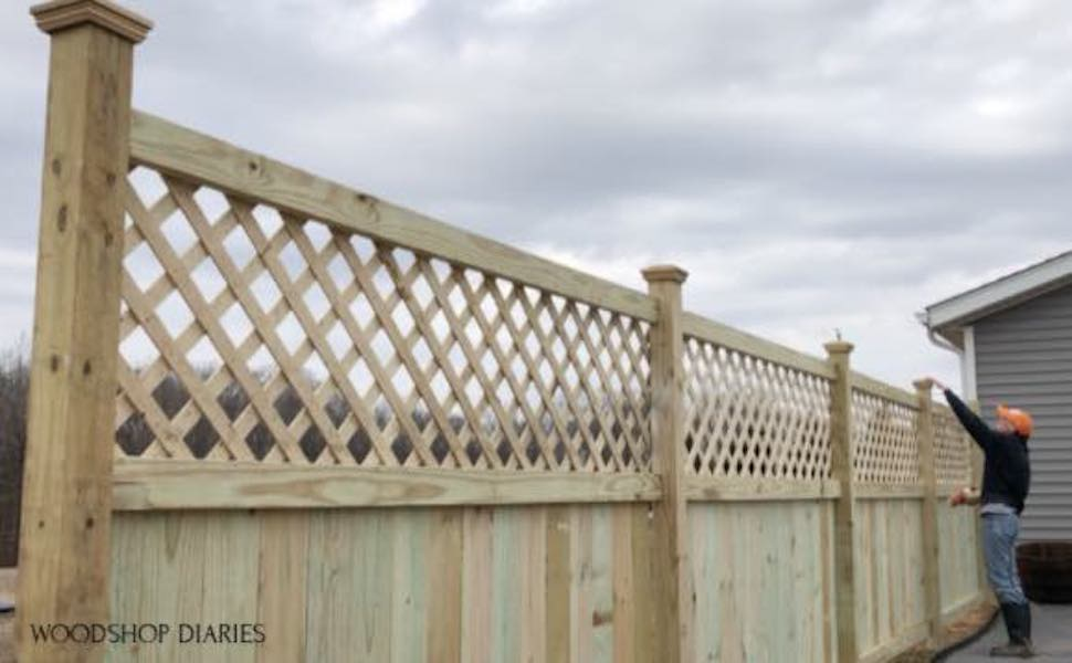 Learn how to build a privacy fence for your backyard.