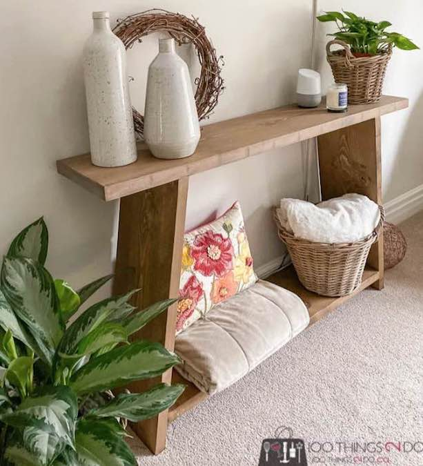 Build this Four Board Console Table using free plans.