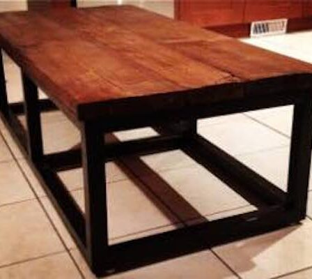 Build a Modern Reclaimed Wood Look Coffee Table using free plans.