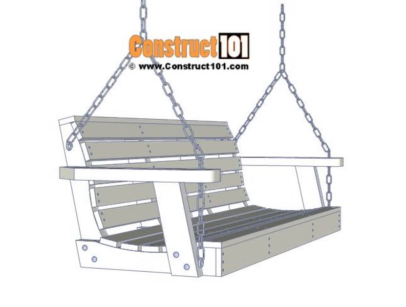 Build your own Porch Swing using free plans.