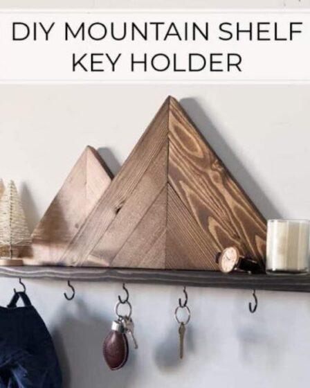 Build a Mountain Shelf Key Holder using free plans.