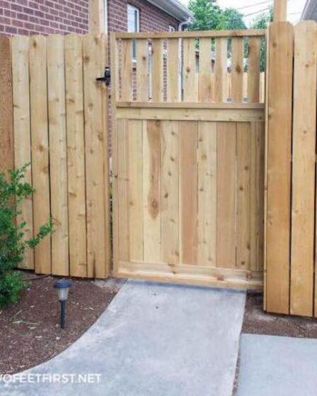 Build a Wooden Garden Gate using free plans.