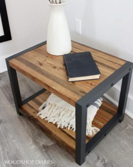 Build this awesome End Table With Shelf using free plans.