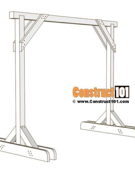 Build a Porch Swing Stand using free plans.