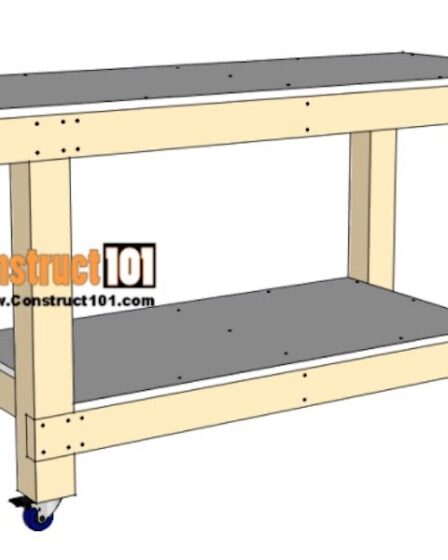 Build a simple workbench using PDF free plans.