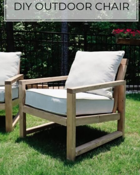 Build outdoor chairs using free plans.