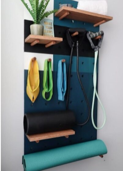Build a Plywood Pegboard Organizer using free plans.