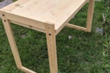 Build a Kids Adjustable Height Desk using free plans.