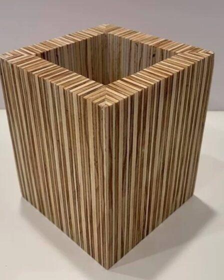 Build a Plywood Plant Pot using free plans.