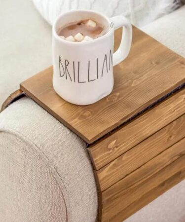 Build this Scrap Wood Armrest Table using free plans.