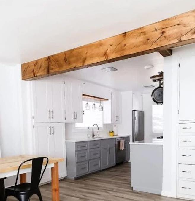 Build a DIY Faux Wood Beam using free plans.