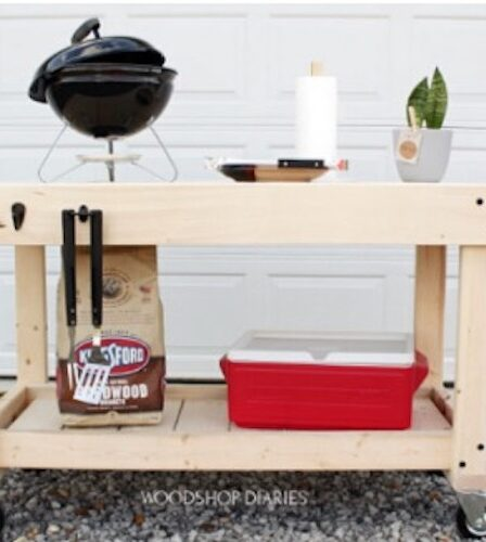 Build this Grill Cart Prep Table using free plans.