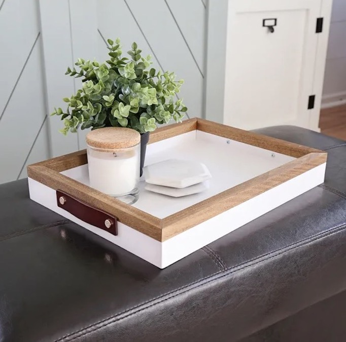 Build a Serving Tray With Handles using free plans.