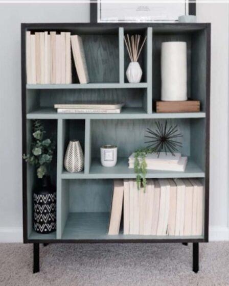 Build a Modern Plywood Bookshelf using free plans.