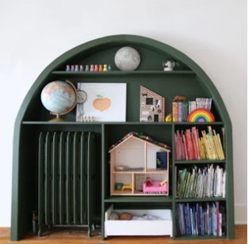 Free plans to build an Arched Bookcase.