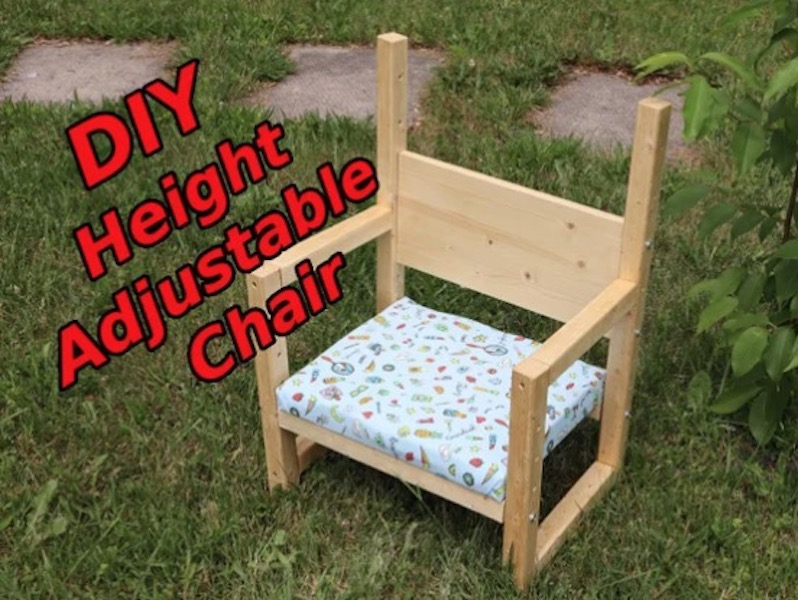 Build this Height Adjustable Kids Chair using free plans.
