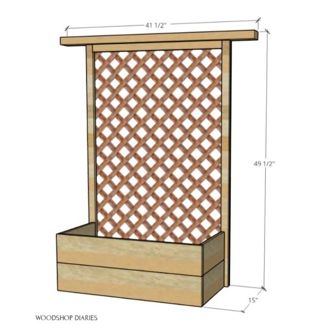 Build a Planter Box With Trellis using free plans.