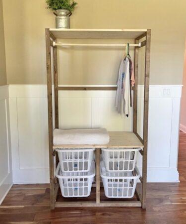 Build a Freestanding Laundry Closet using free plans.