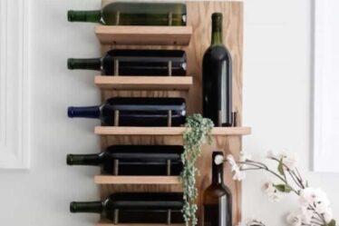 Build this DIY Wood Wine Rack using free plans.