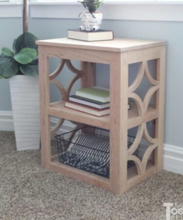 Build this Side Table With Details using free plans.