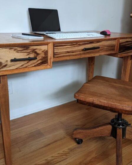Build this Mid-Century Executive Desk using free plans.