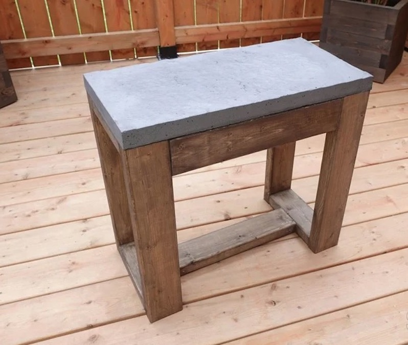 Build this Outdoor Patio Side Table using free plans.