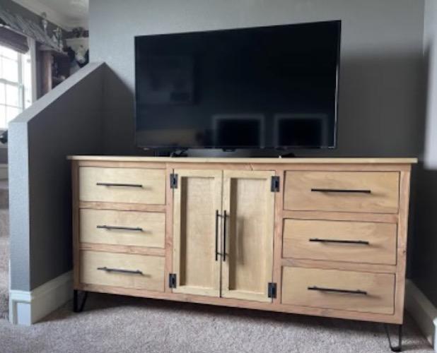 Build a Modern Dresser using free plans.
