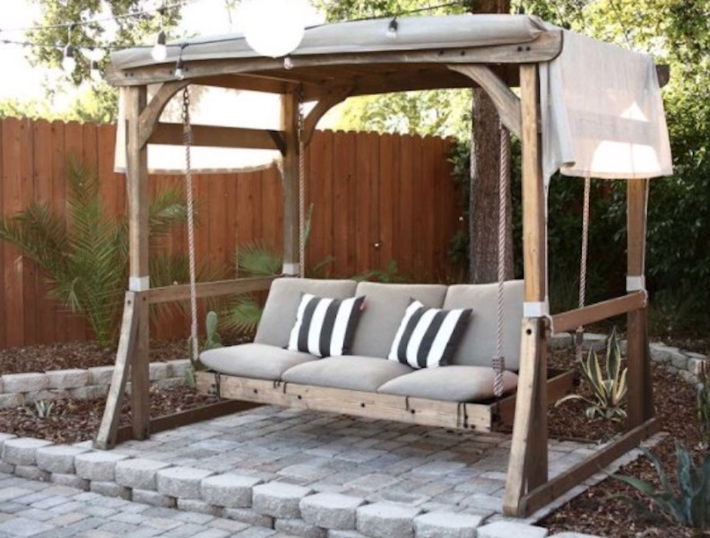 Build an Arbor Swing For Outdoors using free plans.