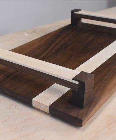 Build a Modern Wood Tray using free plans.